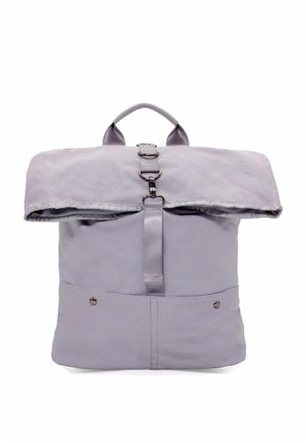 London Rag grey London Rag Ladies Grey Backpack Rucksack BG5204 FDF55AC382BEA9GS_1