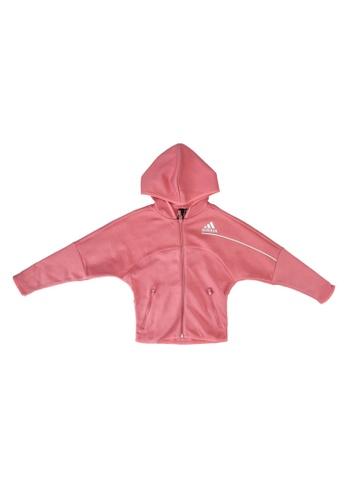 ADIDAS pink z.n.e. loose full-zip hoodie 7CF0CKA264F524GS_1