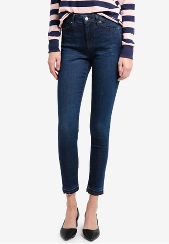 TOPSHOP blue Moto Indigo Let Hem Leigh Jeans TO412AA0T0ULMY_1