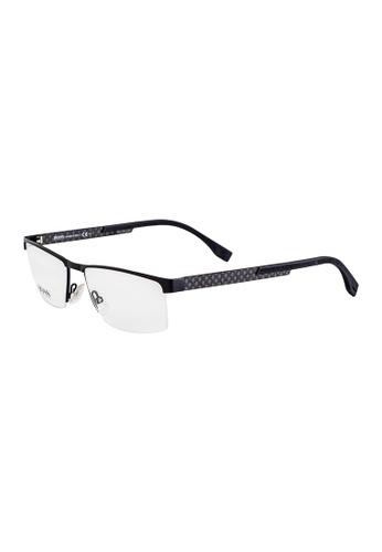 HUGO BOSS Rectangle Black Eyewear 0734FS