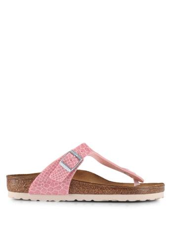 Birkenstock pink Gizeh Magic Snake Sandals 28D7DSH17C51BDGS_1