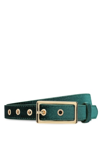 ONLY green Bria Velvet Belt DF774ACA39BB9BGS_1