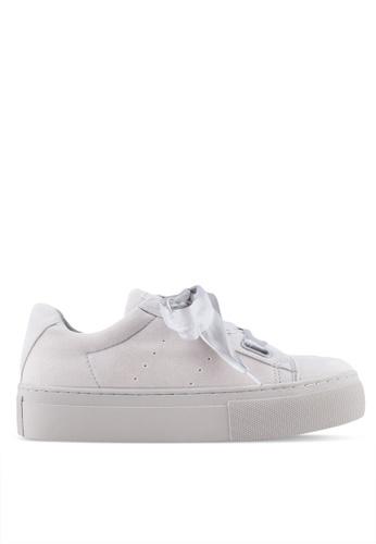 Something Borrowed grey Ribbon Lace Up Sneakers 6C9E2SH15C5B80GS_1
