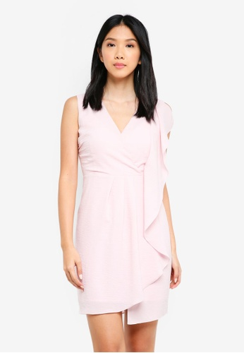 ZALORA pink Draped Panel Dress CB8E3AA2A7B87BGS_1
