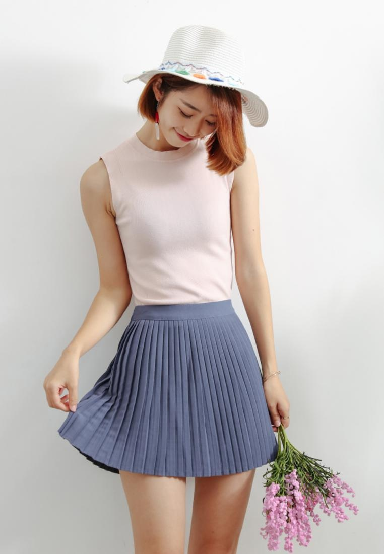 in Skirt Mini Pleated Blue Shopsfashion Blue T1t0qTwW
