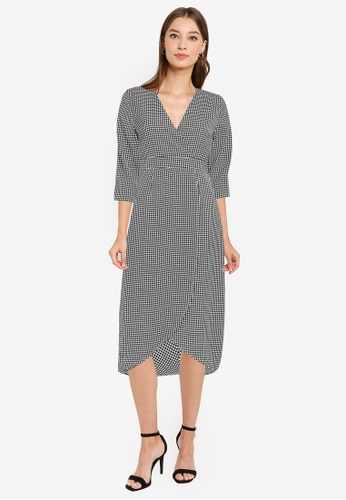 ZALORA WORK multi Wrap Front Tulip Skirt Dress 994BFAA881FD7BGS_1