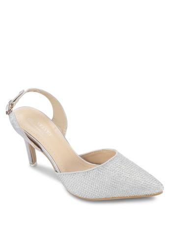 OCCASION 閃飾尖zalora 手錶 評價頭繞踝高跟鞋, 女鞋, 鞋