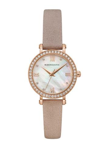 BCBG brown BCBGMAXAZRIA Rose Gold and Brown Watch F1595AC45D4E7BGS_1