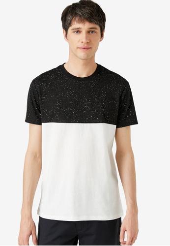 KOTON black Colourblock T-Shirt C816FAAE36C112GS_1
