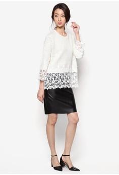 Lace Hem Sweater Top