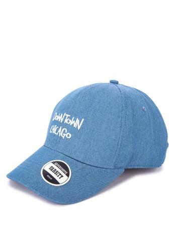 Penshoppe blue Twill Baseball Cap 2A7D6AC759DE25GS_1