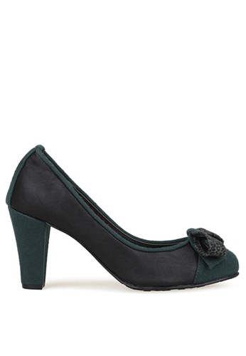 SPUR black and green Topaz Heels SP642SH78MYVHK_1