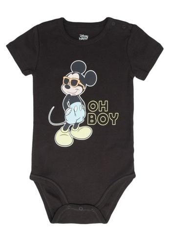 FOX Kids & Baby grey Short Sleeve Bodysuit 6FA09KAE05CD02GS_1