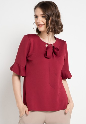 ELLE red The Rope And Bell Models Blouses FE2F4AA1324ED2GS_1