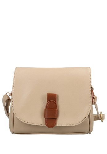 MAYONETTE brown MYNT by Mayonette Nabel Sling Bag - Cream CFD58AC4294F92GS_1