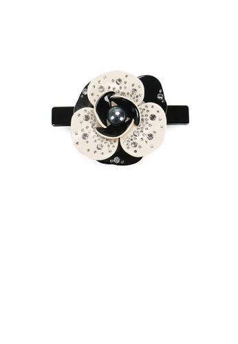 Glamorousky grey Fashion and Elegant Flower Gray Imitation Pearl Hair Slide with Cubic Zirconia 6EC0BACA1789D7GS_1