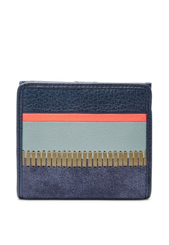 Fossil multi and navy Fossil Caroline RFID Multicolor Wallet SL7545490 7168CACCC26B63GS_1