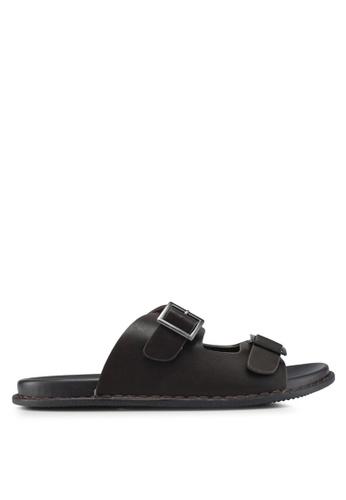Bata brown Double Buckle Sandals E93B8SH8ABA987GS_1