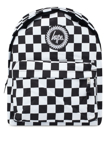 Just Hype black and white Checkerboard Backpack ECCADACCF8964DGS_1