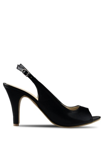 Claymore sepatu high heels B 708T - Black