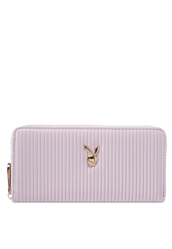 PLAYBOY BUNNY purple Playboy Bunny Long Zip Purse PL604AC0SKNIMY_1
