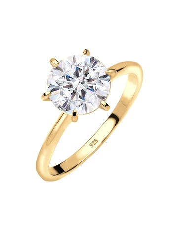 Elli Germany gold Elli Germany Ring 925 Sterling Silver Gold Plated Swarovski Crystals 61413ACB7CD968GS_1