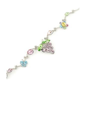 Glamorousky multi Wavy Grape Bracelet with Multi Color Austrian Element Crystals 8F247AC7A35123GS_1