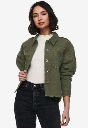 ONLY green Crochet Detail Jacket A41ACAAC479158GS_1
