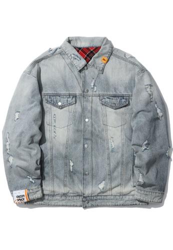 Fivecm navy Reversible denim jacket 9EF71AA1969B63GS_1