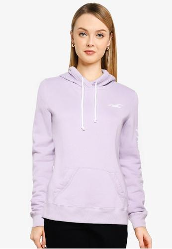 Hollister purple Tech Core Pullover Hoodie DA592AA867B9AFGS_1