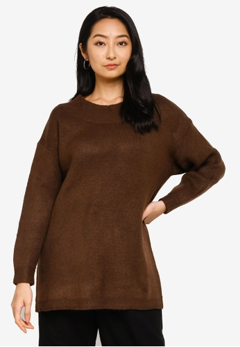 niko and ... brown Dropped Shoulders Knit Sweater 45241AAECBA3FEGS_1