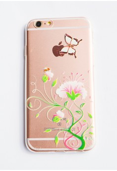 Flowers, Butterfly and a Bee Soft Transparent Case for iPhone 6/6s