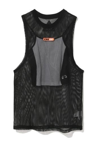 Mini cream black Logo mesh tank top and camisole set 22E90AA1F713DEGS_1