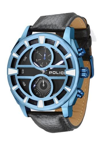Police black and blue Jam Tangan Pria Police PL14338JSBL/61 0812AACFBEDC1EGS_1
