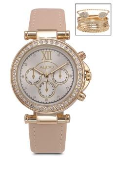 Aldo White Rimella Watch And Bangle Set C71e8ac45ada63gs 1