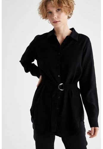 DeFacto black Long Sleeve Tunic 8C1C2AA5EE822DGS_1