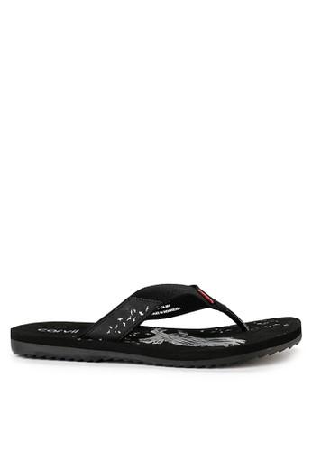 CARVIL black Sandal Sponge Man Eaglo D320DSHC05F6D6GS_1