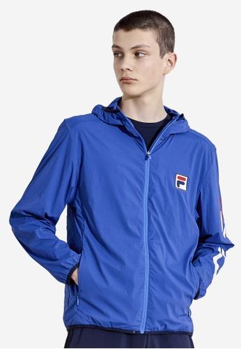 FILA blue F-box Logo Hooded Jacket 65059AA8307116GS_1