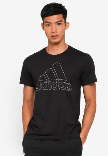 adidas black adidas id badge of sport tee EC742AA76C7B03GS_1