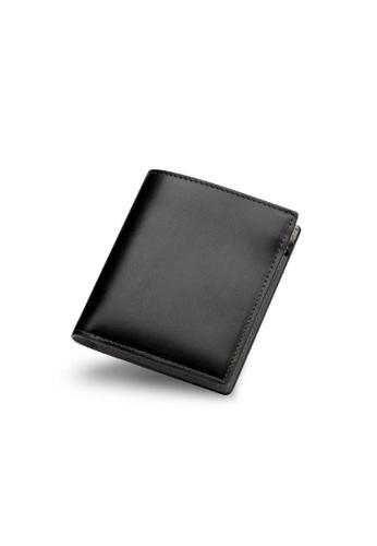 Maverick & Co. black Maverick & Co. Cosmopolitan Pocket Leather Wallet (Black & Grey) 3FF52AC035C925GS_1