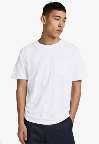 Jack & Jones 白色 Blabeach素色 T恤 8F1C5AA94F10AAGS_1
