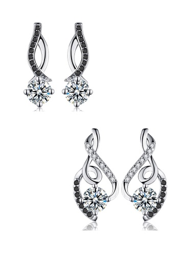 A-Excellence white Premium Elegant White Silver Earring Set 3CABAAC181D21EGS_1