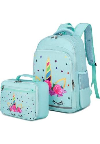 Adkidz blue Adkidz Unicorn Backpack and Lunch Bag 5FA11KC5412B2BGS_1