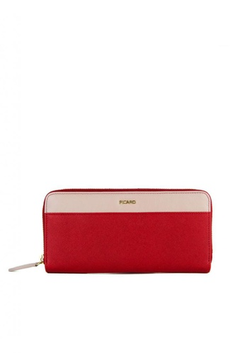 Picard red Picard Lauren Zip Around Long Wallet in Red 67735ACCF411B7GS_1
