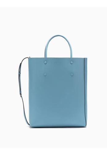 Calvin Klein blue Leather Tote Bag 272E0AC2682371GS_1