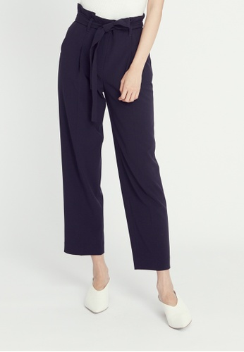 H:CONNECT blue Ribbon Tie Pants 1BB58AA9A0297FGS_1