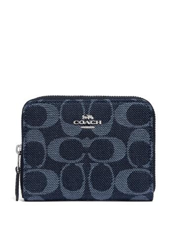 Coach blue Small Zip Around Wallet (cv) 9F7FEAC1450A61GS_1