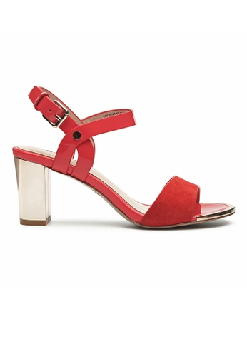 Byford red Ling Ankle Strap Heel Sandals 672AESH314DDCDGS_1