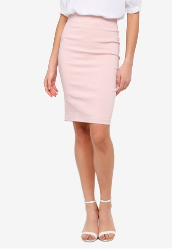 FORCAST pink Rose Pencil Skirt DAB12AA134D5F6GS_1