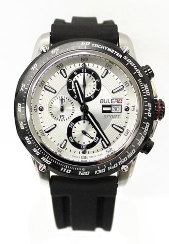 Buler black and silver Buler Sport Watch - Silver - Gents - Date - 6H BU689AC2VG1AHK_1
